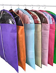 Storage Bag Clothes Cover   Transparent Clothing Dust Cover  Coat Dust Bag  Dust Cover For Suit  Non Woven Thickening   (Random Colour)