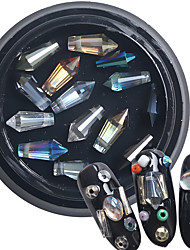 1PC  Nail Art iridescence The Bullet Crystal Diamond Nail Drill Mixed Color Outfit 14