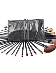 32pcs Makeup Brushes Set Goat Hair Full Coverage Wood Face /Gift Package