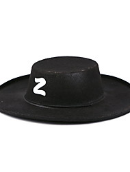 Cosplay Ball Props Zorro Hat Cowboy Hat Adult Zorro Hat