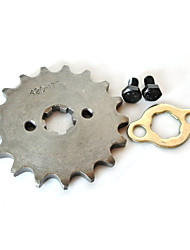 420-17MM-17T Tooth Front Engine Sprocket Set for Lifan 125cc Engine Motor Scooter Dirt Bike