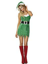Newest Green Christmas Tree Costumes Women's Stage Performance Clothing Adult Christmas Dress