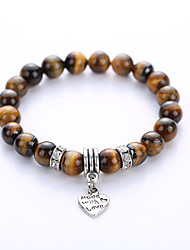 Natural Agate Volcano Lava Stone Energy Colorful Beads Hand String Bracelet