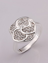Jewelry Women Flower Sterling Silver Ring Statement Rings
