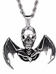 Kalen® New Design 316 Stainless Steel Skull Pendant Necklaces For Men Punk Rock Skeleton Necklaces Cool  Gifts