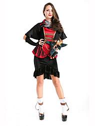 Vampire Fête / Célébration Déguisement Halloween Rouge / Noir Couleur Pleine Manteau / RobeHalloween / Noël / Carnaval / Le Jour des
