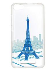 Für Muster Hülle Rückseitenabdeckung Hülle Eiffelturm Weich TPU für Wiko Wiko Sunset 2 / Wiko Lenny 3 / Wiko Lenny 2