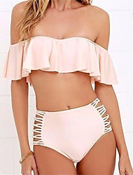 Bikinis Aux femmes Bandeau Polyester