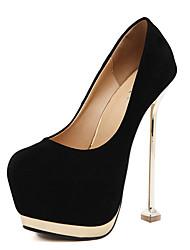 Women's Heels Fall Platform Leatherette Dress Stiletto Heel Platform Black