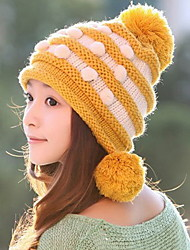 Women 'S Fashion Winter Warm With The Ball Hudie Winter Cap Knitted Hat Hats