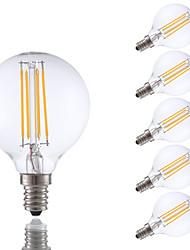 3.5 E12 Ampoules à Filament LED G16.5 4 COB 350 lm Blanc Chaud Gradable V 6 pièces