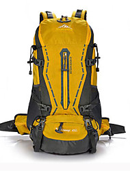 45 L Hiking & Backpacking Pack Waterproof / Wearable / Breathable Yellow / Green / Red / Black / Blue