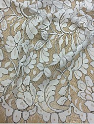 150cm By the Yard/Jacquard/Lace/White/Fabric