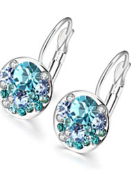 Stud Earrings Earrings Gem Silver Plated Alloy Fashion Rose Light Blue Jewelry Wedding Party Daily Casual 1 pair