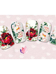 40sheets  Mixed Cartoon Flower Water Transfer Sticker Nail Art Beautiful DIY STZ041-080