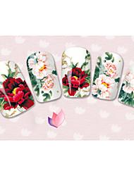 Мультипликация / Цветы / Милый - 3D наклейки на ногти - Пальцы рук / Пальцы ног - 15cm x 10cm x 5cm (5.91in x 3.94in x 1.97in) - 40PCS -