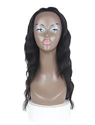 22 pouces vague de corps de cheveux humains dentelle perruques avant noir foncé # 1 noir # 1 b brun foncé # 2 brun moyen # 4 corps vague