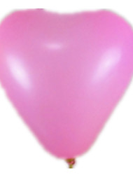 Balões Decoração Para Festas Forma de Coração Borracha Rosa Para Meninos / Para Meninas 5 a 7 Anos / 8 a 13 Anos