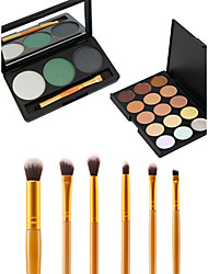 18 Concealer/Contour+ShadowMakeup Brushes Wet Eyes / Face Coverage / Long Lasting / Concealer / Uneven Skin Tone / Natural China Others
