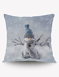 Christmas Christmas Gift Gift Pillow Cover Series Romantic Snowman Pillow Flannel Material
