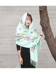 Women Acrylic Scarf,Casual RectanglePrint