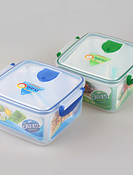 Food Grade Reusable Square Plastic Lunch Box with Divider