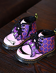 Girl's Baby Boots Winter Comfort Leatherette Casual Flat Heel Others Black Green Pink Other