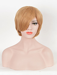 Hot Sale Women Blonde Color Synthetic Wigs Short Straight Wigs