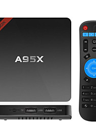A95X Amlogic S905X Android Box TV,RAM 2GB ROM 16Go Quad Core WiFi 802.11n Bluetooth 4.0