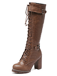 Front lace-up waterproof Taiwan thick with tall canister boots belt buckle knight boots