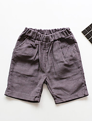 Girl Casual/Daily Solid Shorts-Cotton Summer