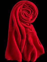 Women Acrylic Scarf,Casual RectangleSolid
