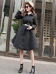 2016 nouvelle mode d'hiver une taille de swing était mince coton épais chaud veste matelassée avec ceinture