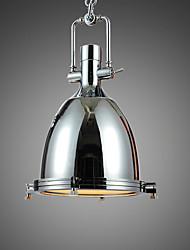 Max 60W Lampe suspendue ,  Traditionnel/Classique / Rustique / Vintage / Rétro Chromé Fonctionnalité for Style mini MétalSalle de séjour