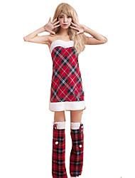 Fête / Célébration Déguisement Halloween Rouge A Carreaux Robe / Châle / Plus d'accessoires Noël Féminin Velours
