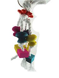 Portable Wood Multi-Color Bird Toys1PC