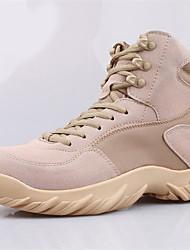 Men's Boots Comfort Suede Outdoor Platform Black Almond Beige Hiking