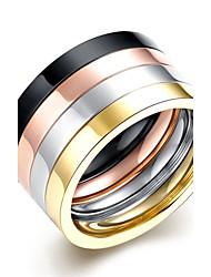 Ringe Hochzeit / Party / Alltag / Normal / Sport Schmuck Edelstahl / versilbert / vergoldet / Rose Gold überzogen HerrenRing /
