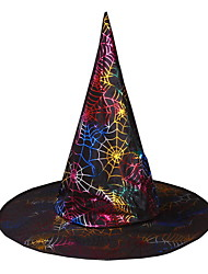 Halloween Costume Party Supplies Hot Stamping Wizard Hat Easter Cap Performance Props Witch Hat