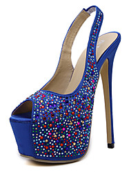 Women's Sandals Platform Synthetic / Glitter Outdoor / Office & Career / Party & Evening / Dress / Casual Stiletto HeelBeading /