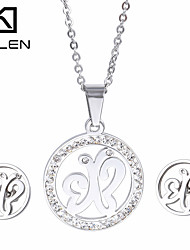 Maldives Popular Accessories Jewelry Set Kalen Cheap Stainless Steel Silver Color Butterfly Pendant Necklace And Earrings Sets For Girls Women