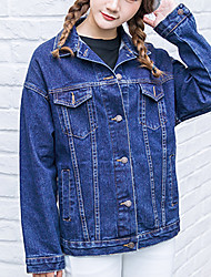 Sign loose denim jacket Harajuku BF wind big yards long-sleeved denim jacket denim jacket female tide