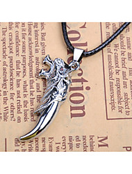 Men's Pendant Necklaces Jewelry Animal Shape Wolf Alloy Dangling Style Animal Design Jewelry For Wedding Party