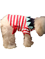 Dog Sweater Red / Blue Dog Clothes Winter / Spring/Fall Stripe Keep Warm