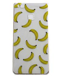 Pour huawei p9 p9 lite couverture de boîtier motif de banane haute perméabilité peinture tpu matériel téléphone casier