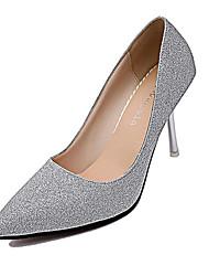 Damen-High Heels-Lässig-PU-Niedriger Absatz-Komfort-Silber Gold