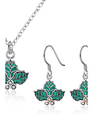 Bijoux 1 Collier / 1 Paire de Boucles d'Oreille Soirée / Quotidien / Décontracté 1set Femme Vert Cadeaux de mariage