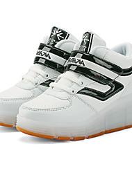 Jungen-Sneaker-Lässig-PU-Flacher Absatz-Komfort Light Up Schuhe-Blau Grün Rosa Rot Weiß