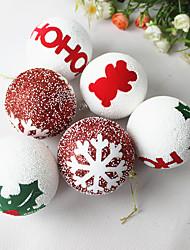 1pc Weihnachten 8cm Schaum Weihnachtskugel Weihnachtsbaum Anhänger Weihnachtsverzierung Ornament (Stil random)