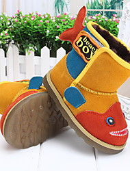 Boy's Boots Winter Others Fur Outdoor Casual Yellow